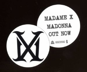 MADAME X  -  USA PROMO CIRCULAR LOGO STICKER